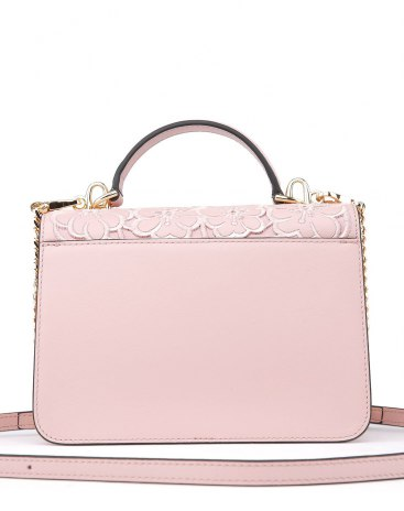 Pink Plant Cowhide Leather Kelly Bag Small Women's Totes
