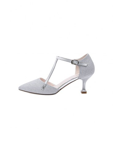 Silver Pointed High Heel Portable Women's Pumps