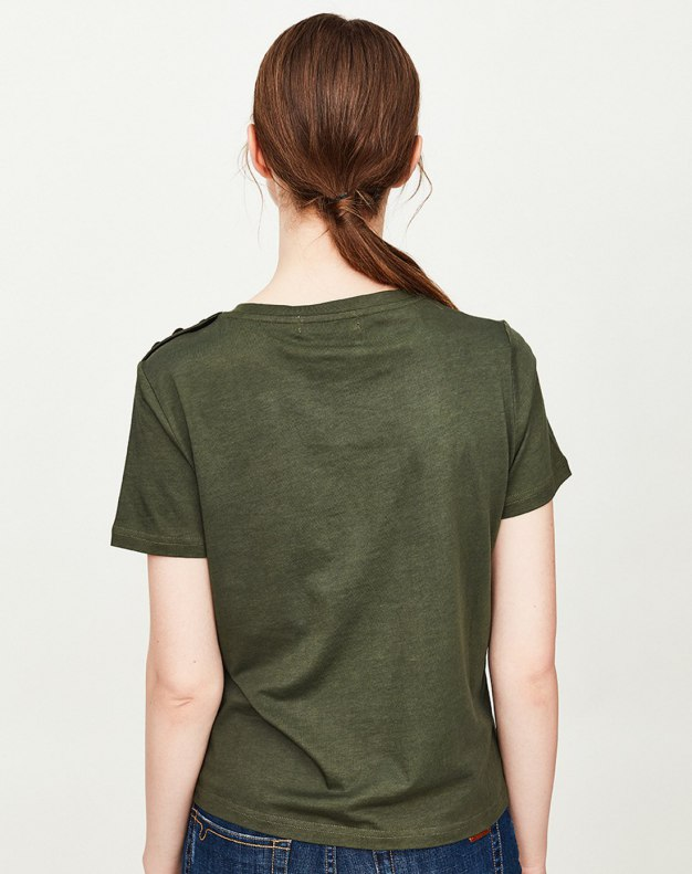 Round Neck Short Sleeve Fitted Women's T-Shirt