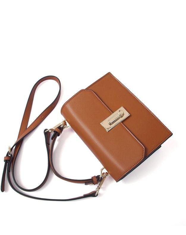 Plain Cowhide Leather Fashion Bag Small Women's Shoulder Bag