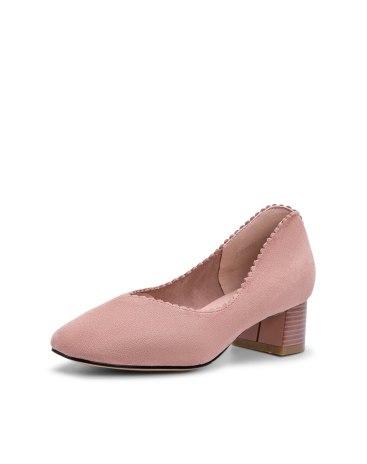 Pink Middle Heel Women's Pumps