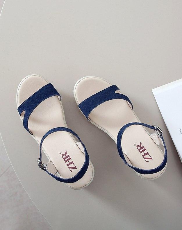 Blue Flat Women's Sandals