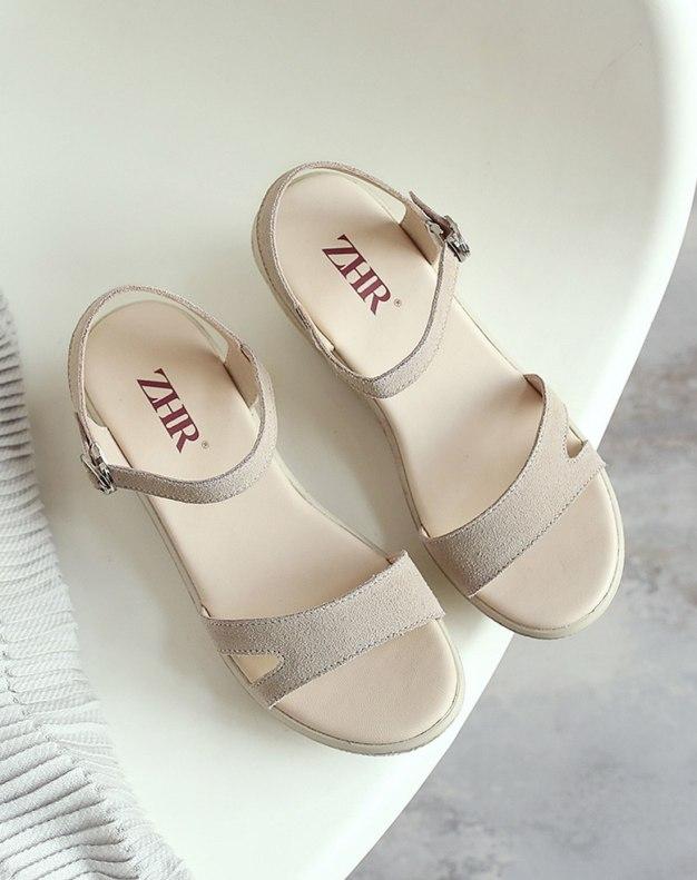 Beige Flat Women's Sandals