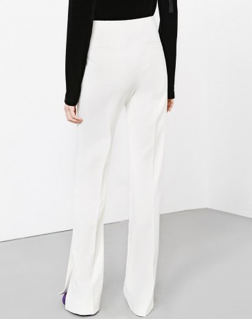 White High Waist Long Women's Pants