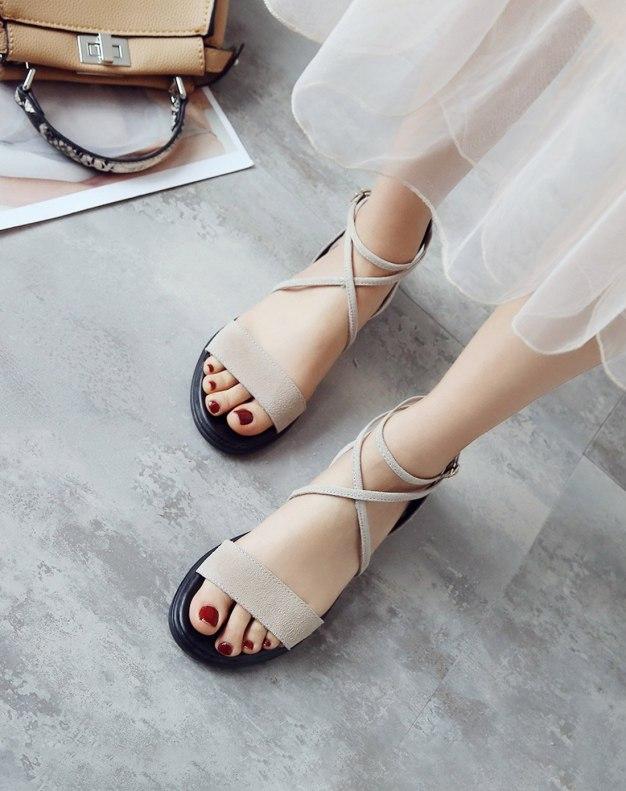Apricot Flat Women's Sandals