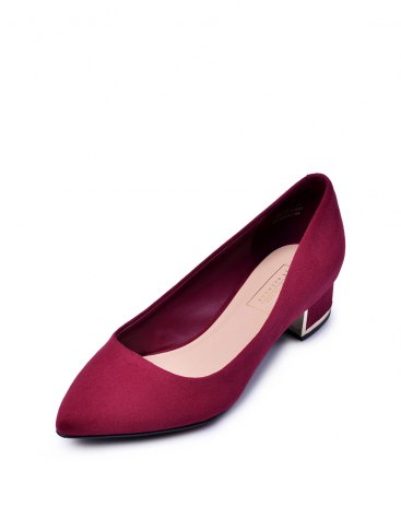 Cut Pointed Low Heel Women's Shoes