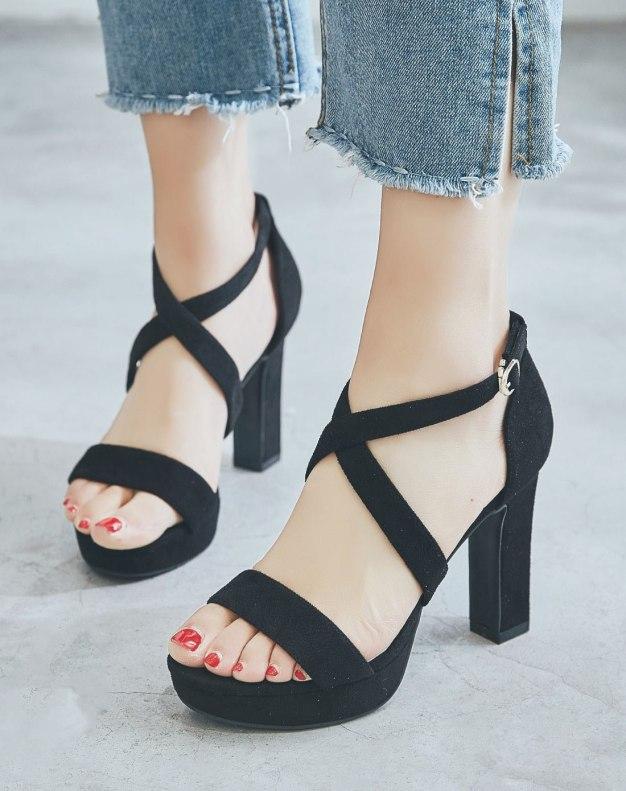 Black High Heel Women's Sandals