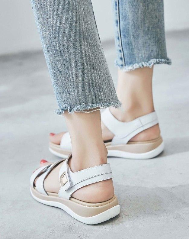 White Flat Women's Sandals