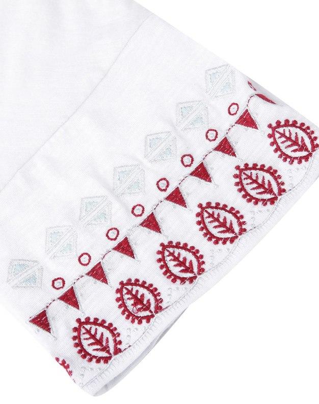 White Round Neck Sleeve Standard Women's Dress