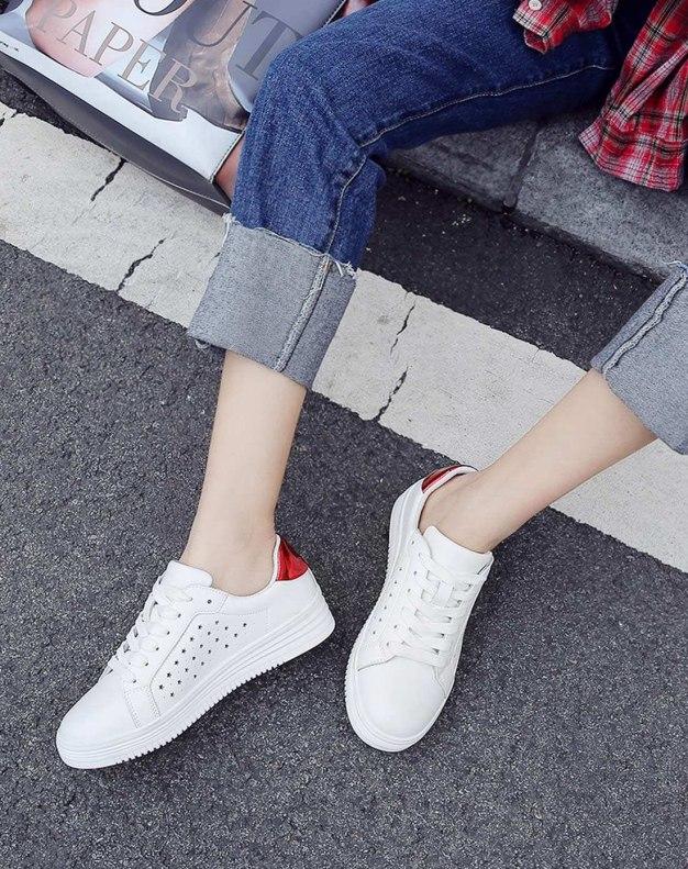 Round Head Internal Heighten Women's Casual Shoes