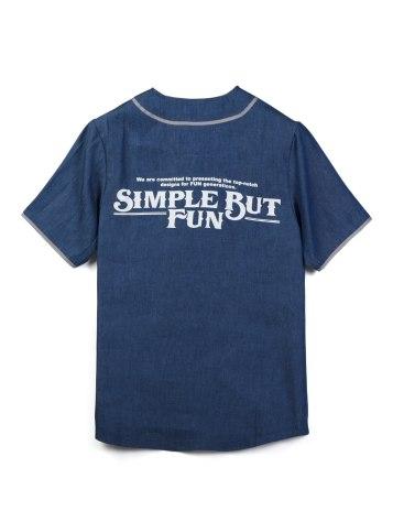 Blue Short Sleeve Standard V Neck Men's Shirt