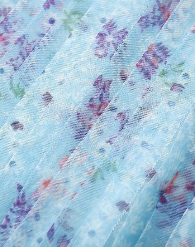 Colourful Round Neck Sleeveless Standard Women's Dress