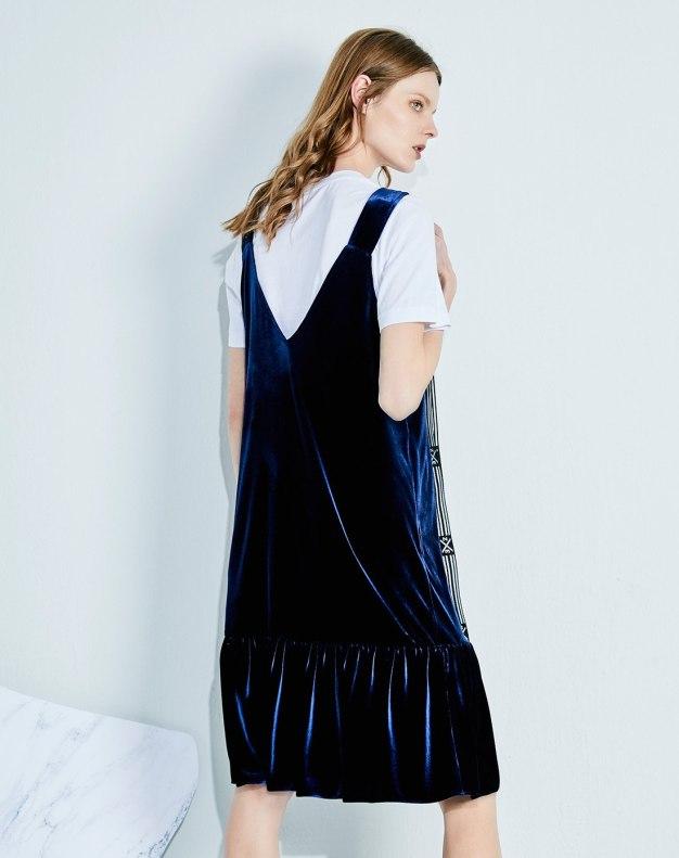 블루 여성 드레스