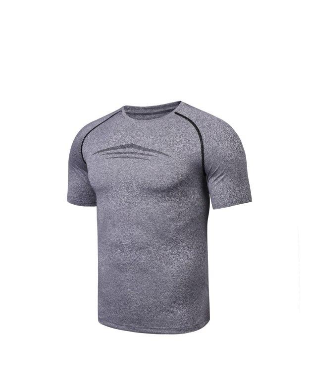 Gray Short Sleeve Men's T-Shirt