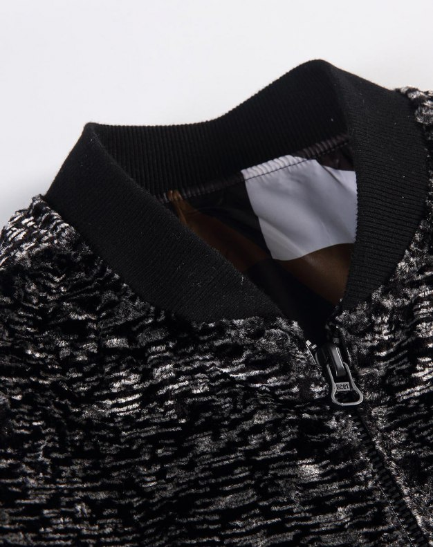 Black Baseball collar Long Sleeve Standard Men's Jacket