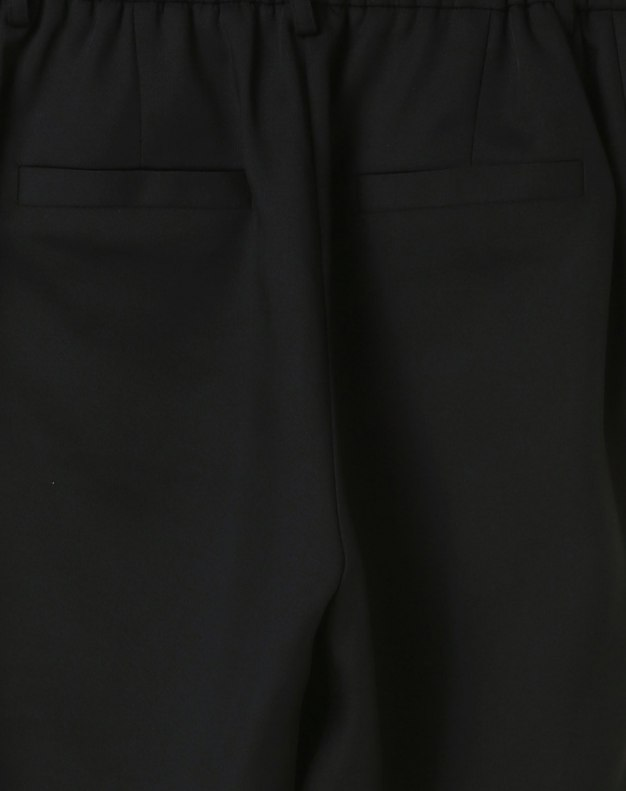 Black Open Line Cropped Women's Pants