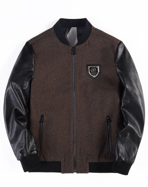Camel Baseball collar Long Sleeve Standard Men's Jacket