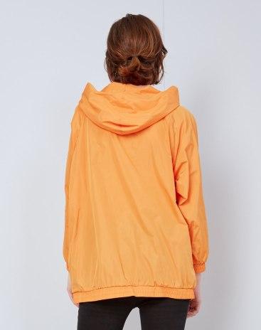 Red Contrast Color Regular Collar Elastic Women's Sweatshirt