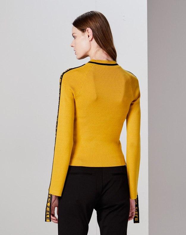 옐로우 여성 니트