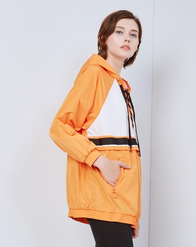 레드 색상 대비  긴소매 슬랙스 여성 맨투맨티셔츠