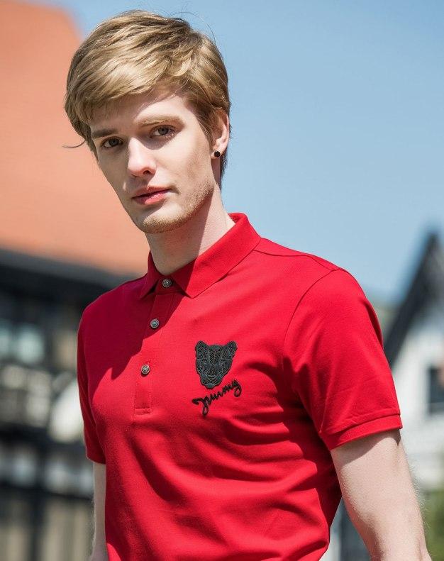 Red Men's Polo