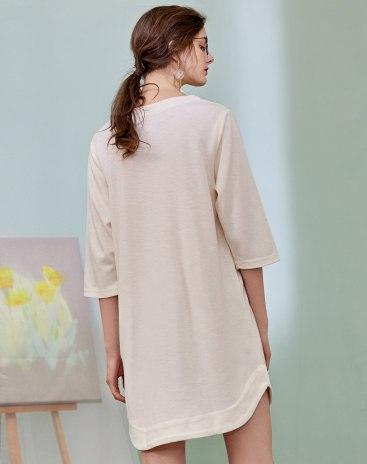 Polyester Half Sleeve Standard Women's Sleepwear