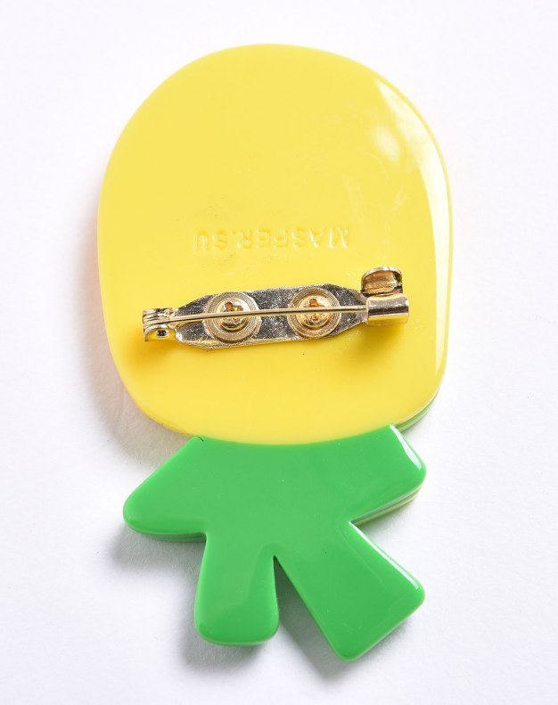 Yellow Fruit Brooches