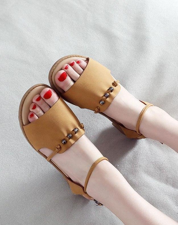 Brown Flat Women's Sandals