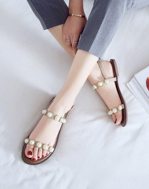 Apricot Flat Anti Skidding Women's Sandals