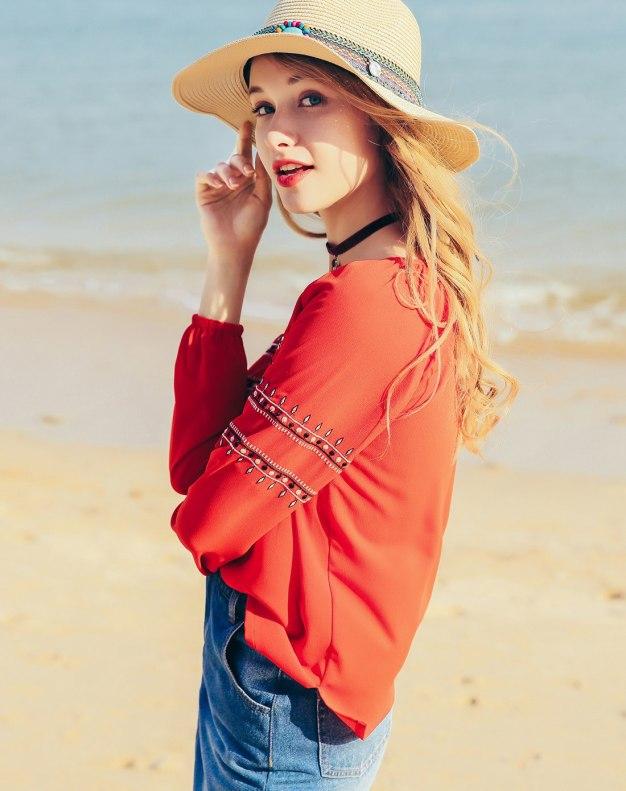 Red Women's Shirt