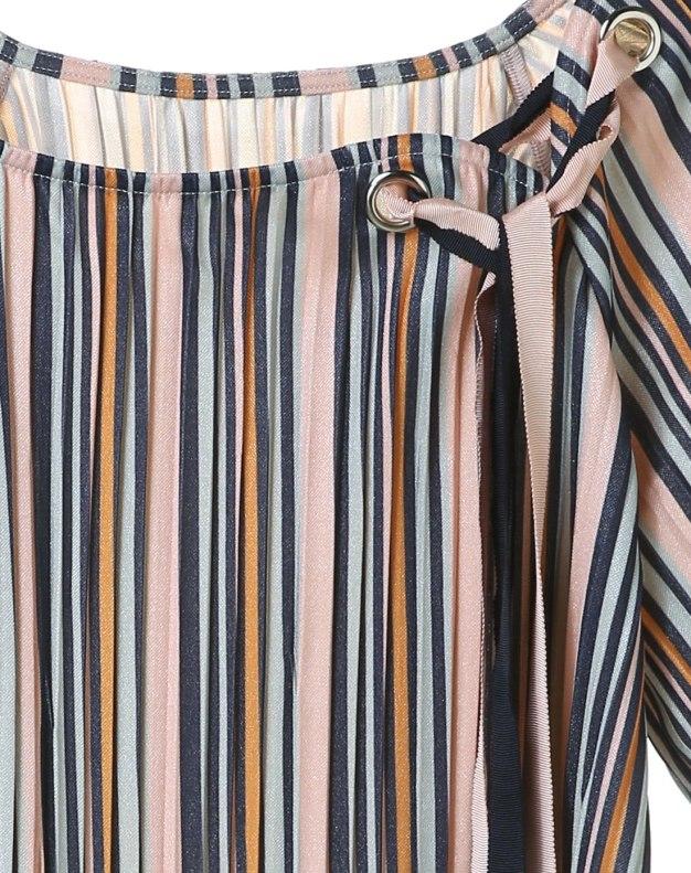 Stripes Round Neck Short Sleeve Standard Women's T-Shirt