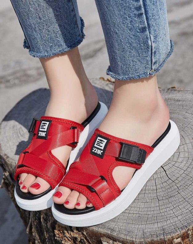 Red Flat Women's Sandals