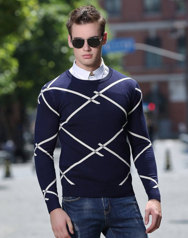 Blue Men's Knitwear