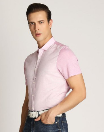 Red Plain Short Sleeve Standard Men's T-Shirt