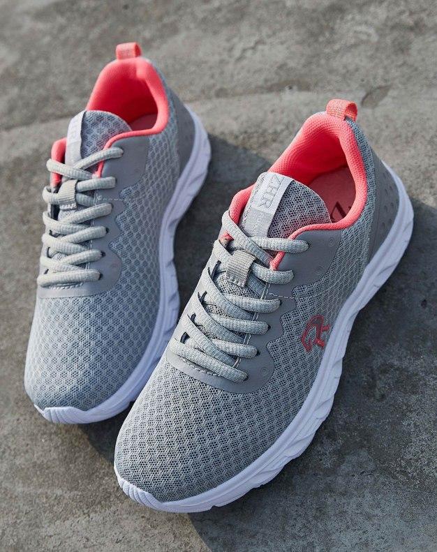 Gray Round Head Flat Portable Women's Sport Shoes