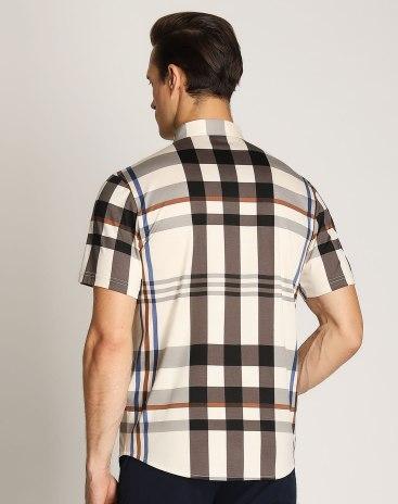 Gray Lapel Short Sleeve Standard Men's T-Shirt