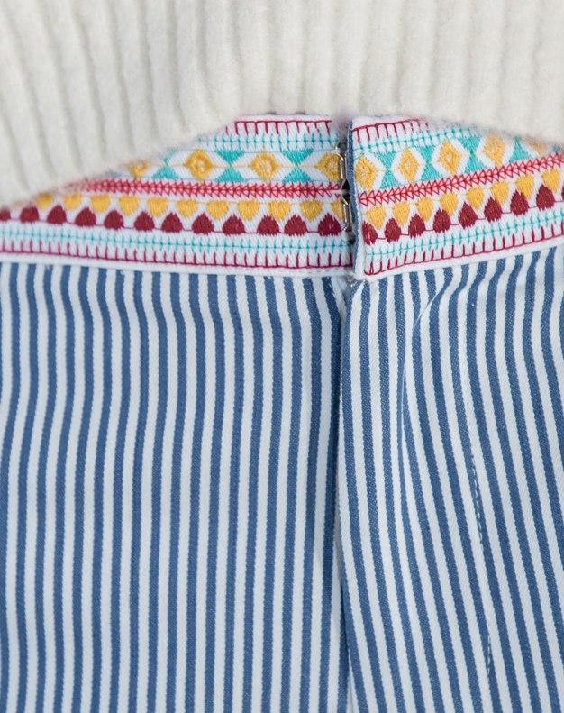 Blue Open Line Cropped Women's Pants