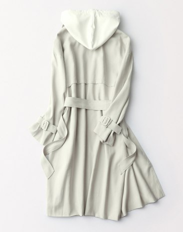 Gray Plain Lapel Double Breasted Long Sleeve Loose Women's Outerwear