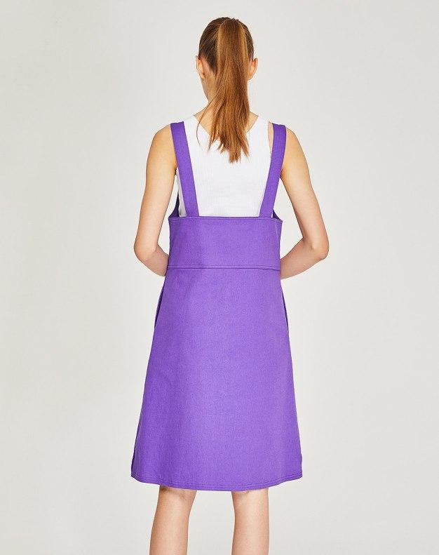 Purple Sleeveless 3/4 Length Women's Dress