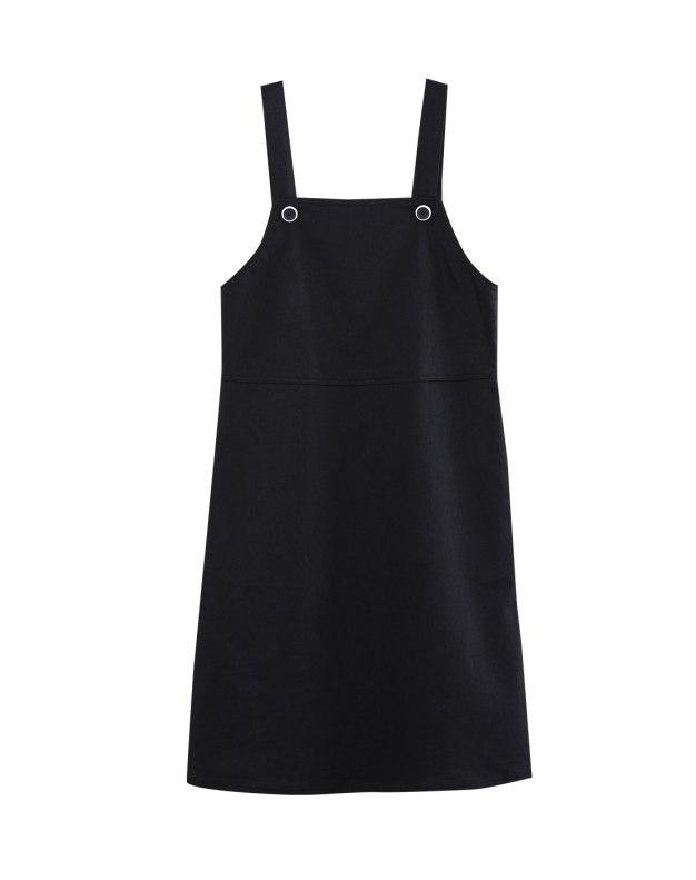 Black Sleeveless 3/4 Length Women's Dress