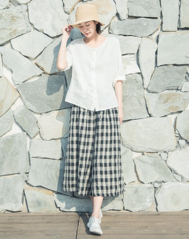 Draw Cord Decoration Cropped Women's Pants