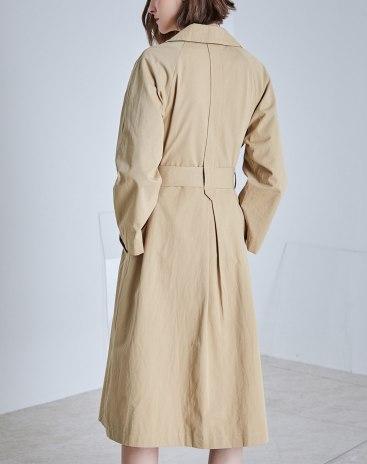 Others1 Lapel Double Breasted Standard Long Sleeve Women's Windbreaker