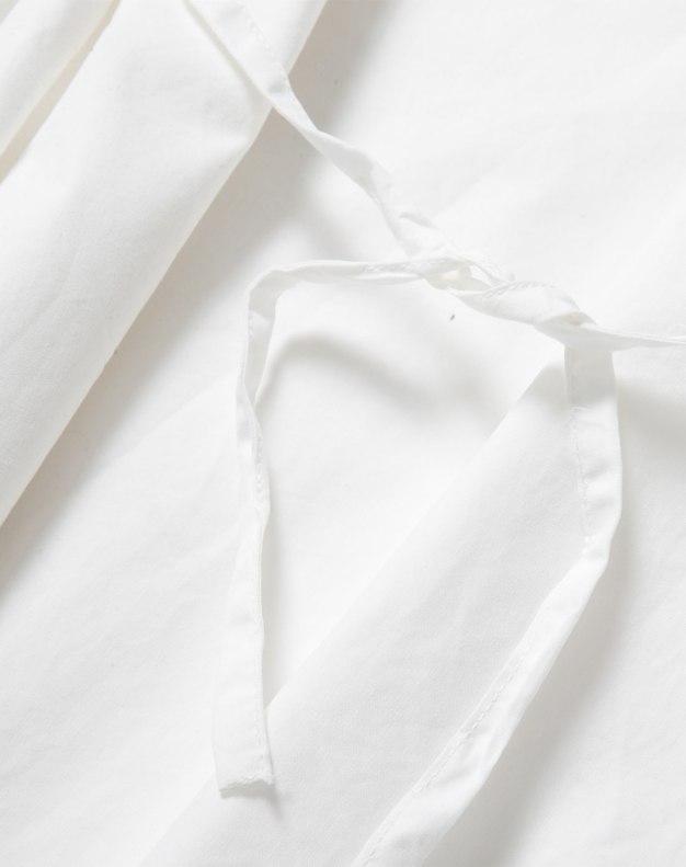 White Plain Flat Collar Short Sleeve Loose Women's T-Shirt