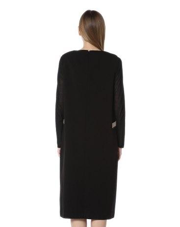 블랙 민소매 펜슬 스커트 여성 드레스