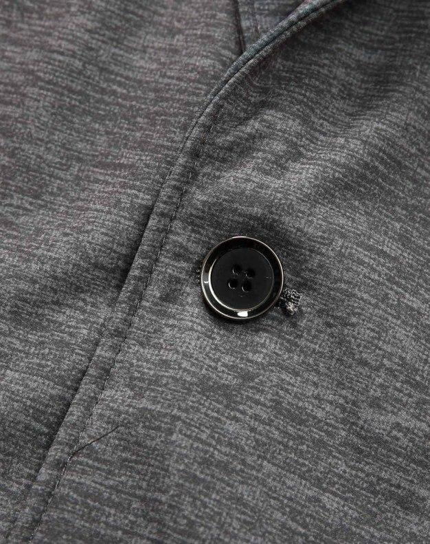 Gray Suit Collar Long Sleeve Men's Jacket