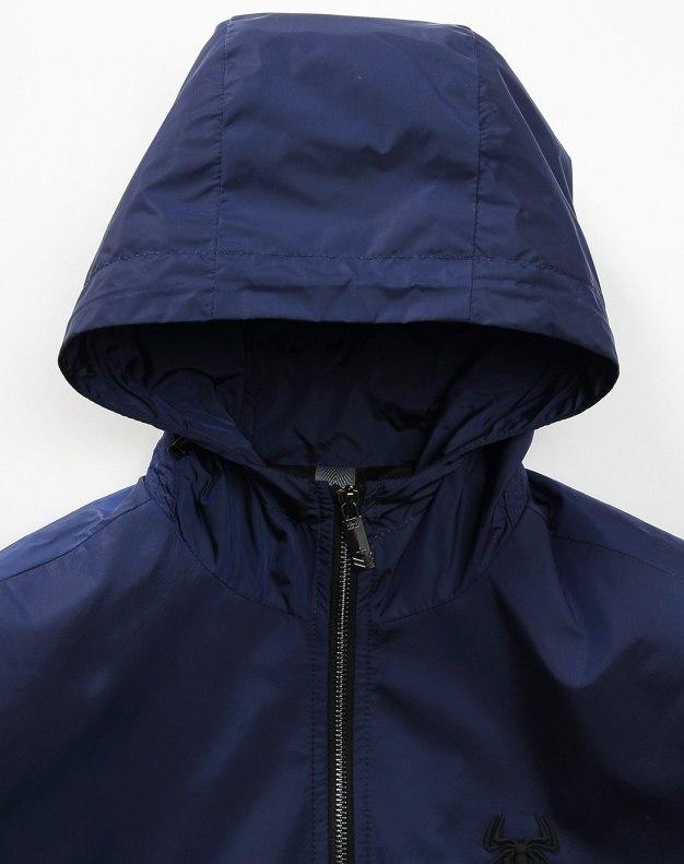 Indigo Hidden Hood Long Sleeve Fitted Men's Jacket
