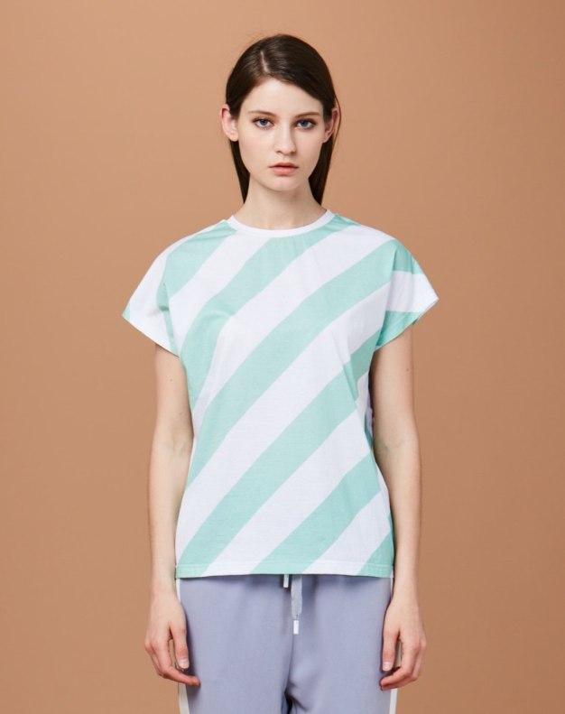 그린 여성 티셔츠