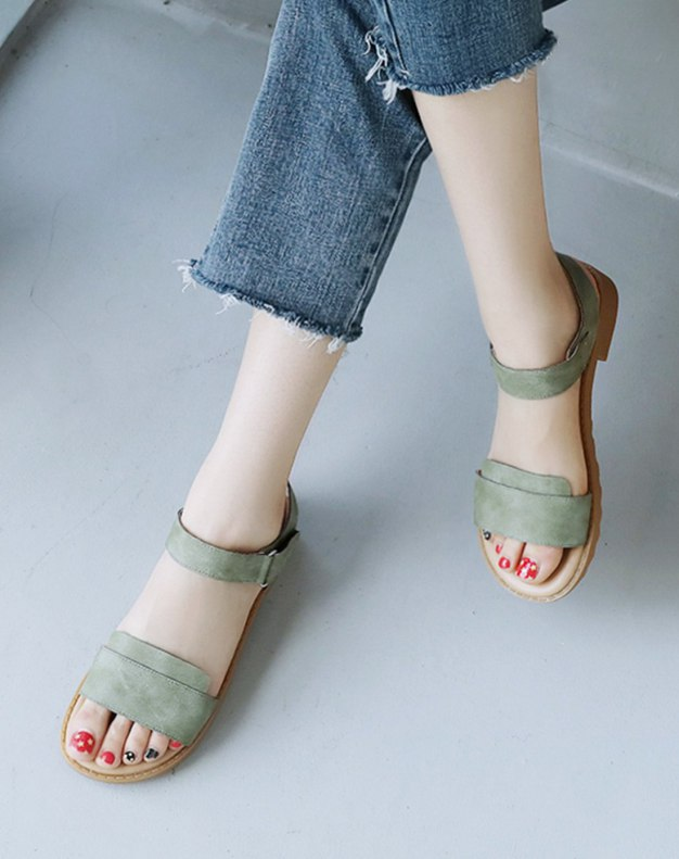 Green Flat Women's Sandals