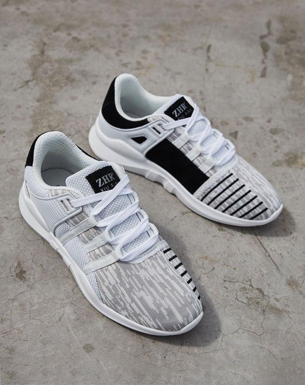 White Round Head Men's Sports Shoes