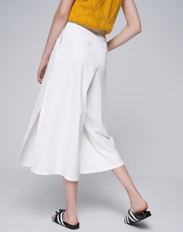 White Cropped Women's Pants